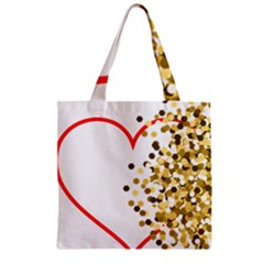 Heart Transparent Background Love Zipper Grocery Tote Bag
