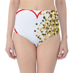 Heart Transparent Background Love High Waist Bikini Bottoms