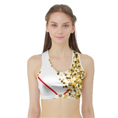 Heart Transparent Background Love Sports Bra With Border