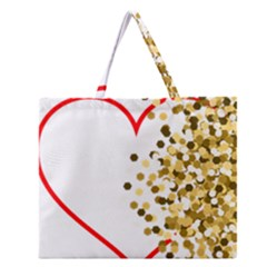 Heart Transparent Background Love Zipper Large Tote Bag
