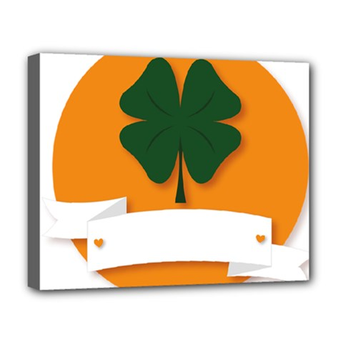 St Patricks Day Ireland Clover Deluxe Canvas 20  X 16