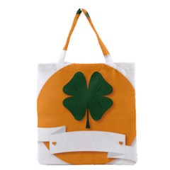 St Patricks Day Ireland Clover Grocery Tote Bag