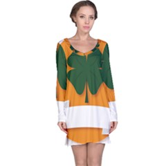 St Patricks Day Ireland Clover Long Sleeve Nightdress