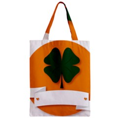 St Patricks Day Ireland Clover Zipper Classic Tote Bag