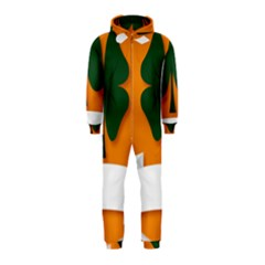 St Patricks Day Ireland Clover Hooded Jumpsuit (kids)