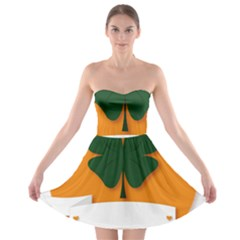 St Patricks Day Ireland Clover Strapless Bra Top Dress
