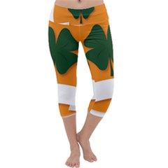St Patricks Day Ireland Clover Capri Yoga Leggings