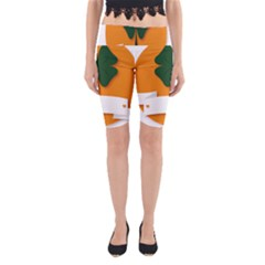 St Patricks Day Ireland Clover Yoga Cropped Leggings