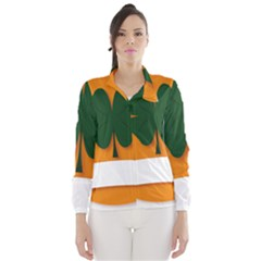 St Patricks Day Ireland Clover Wind Breaker (women)