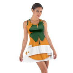 St Patricks Day Ireland Clover Cotton Racerback Dress