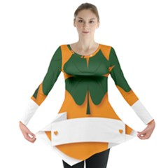 St Patricks Day Ireland Clover Long Sleeve Tunic