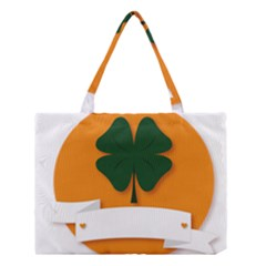 St Patricks Day Ireland Clover Medium Tote Bag