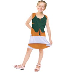 St Patricks Day Ireland Clover Kids  Tunic Dress