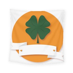 St Patricks Day Ireland Clover Square Tapestry (small)