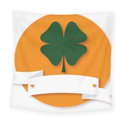 St Patricks Day Ireland Clover Square Tapestry (large)