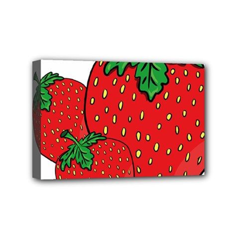 Strawberry Holidays Fragaria Vesca Mini Canvas 6  x 4