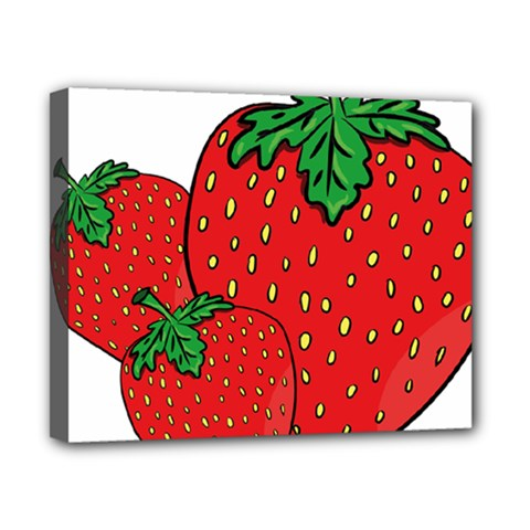 Strawberry Holidays Fragaria Vesca Canvas 10  X 8