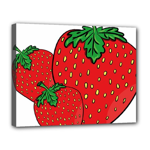 Strawberry Holidays Fragaria Vesca Canvas 14  X 11