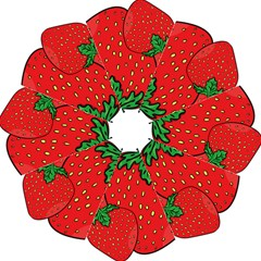 Strawberry Holidays Fragaria Vesca Hook Handle Umbrellas (large)