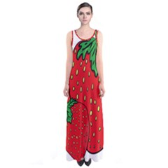 Strawberry Holidays Fragaria Vesca Sleeveless Maxi Dress