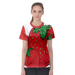 Strawberry Holidays Fragaria Vesca Women s Sport Mesh Tee