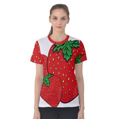 Strawberry Holidays Fragaria Vesca Women s Cotton Tee