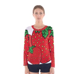 Strawberry Holidays Fragaria Vesca Women s Long Sleeve Tee