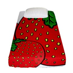 Strawberry Holidays Fragaria Vesca Fitted Sheet (single Size)