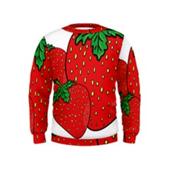 Strawberry Holidays Fragaria Vesca Kids  Sweatshirt