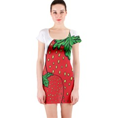 Strawberry Holidays Fragaria Vesca Short Sleeve Bodycon Dress