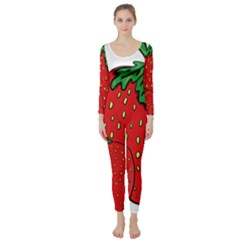 Strawberry Holidays Fragaria Vesca Long Sleeve Catsuit