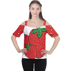 Strawberry Holidays Fragaria Vesca Women s Cutout Shoulder Tee