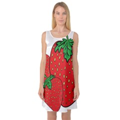 Strawberry Holidays Fragaria Vesca Sleeveless Satin Nightdress
