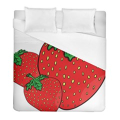 Strawberry Holidays Fragaria Vesca Duvet Cover (full/ Double Size)