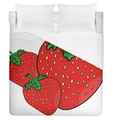 Strawberry Holidays Fragaria Vesca Duvet Cover (queen Size)