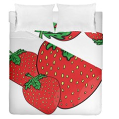 Strawberry Holidays Fragaria Vesca Duvet Cover Double Side (queen Size)