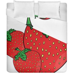 Strawberry Holidays Fragaria Vesca Duvet Cover Double Side (california King Size)