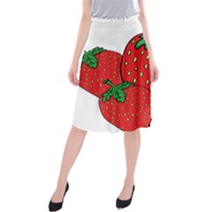 Strawberry Holidays Fragaria Vesca Midi Beach Skirt