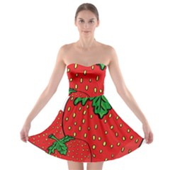 Strawberry Holidays Fragaria Vesca Strapless Bra Top Dress