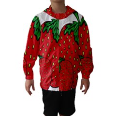 Strawberry Holidays Fragaria Vesca Hooded Wind Breaker (kids)
