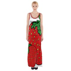 Strawberry Holidays Fragaria Vesca Maxi Thigh Split Dress