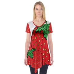 Strawberry Holidays Fragaria Vesca Short Sleeve Tunic