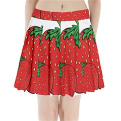 Strawberry Holidays Fragaria Vesca Pleated Mini Skirt