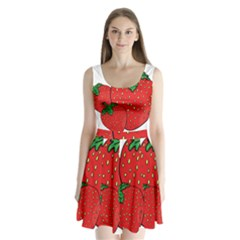 Strawberry Holidays Fragaria Vesca Split Back Mini Dress