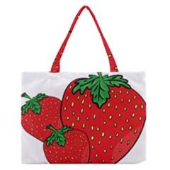 Strawberry Holidays Fragaria Vesca Medium Zipper Tote Bag