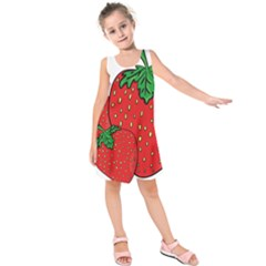 Strawberry Holidays Fragaria Vesca Kids  Sleeveless Dress