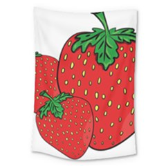 Strawberry Holidays Fragaria Vesca Large Tapestry
