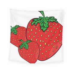 Strawberry Holidays Fragaria Vesca Square Tapestry (small)