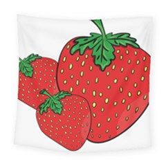 Strawberry Holidays Fragaria Vesca Square Tapestry (large)