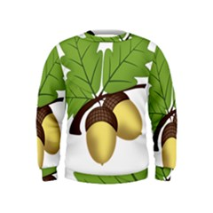 Acorn Hazelnuts Nature Forest Kids  Sweatshirt